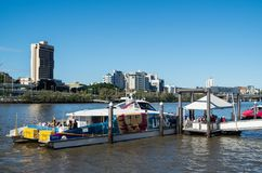 Balsa de Brisbane CityCat no rio de Brisbane em Austrália Imagens de Stock