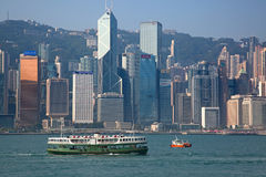 Balsa de Hong Kong Imagem de Stock