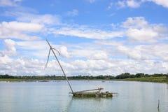 Balsa de madera para los pescadores Imagen de archivo