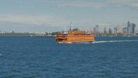A balsa do Staten Island e a estátua da liberdade, NY filme