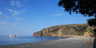 Balsa em Sougia, Crete Foto de Stock