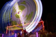 A balsa justa do carnaval roda dentro a velocidade Imagem de Stock Royalty Free