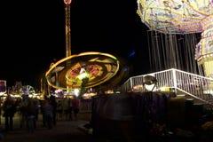 A balsa justa do carnaval roda dentro a velocidade Foto de Stock Royalty Free