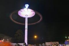 A balsa justa do carnaval roda dentro a velocidade Fotos de Stock