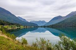 Balsa no Fjord Fotografia de Stock Royalty Free