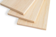 Balsa plank Stock Image