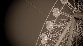 A balsa roda dentro preto-branco Fotos de Stock