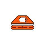 Balsa salvavidas plana del icono del vector Imagen de archivo libre de regalías