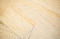 Balsa wood veneer Stock Images
