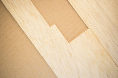 Balsa wood veneer. Balsa wood panel veneer close up Royalty Free Stock Photography
