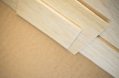 Balsa wood veneer Royalty Free Stock Image