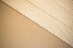 Balsa wood veneer Stock Photography
