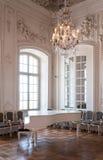 Balsal för stor korridor i den Rundale slotten Royaltyfria Foton