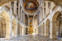Balsal i den Versailles slotten, Paris, Frankrike Royaltyfria Bilder