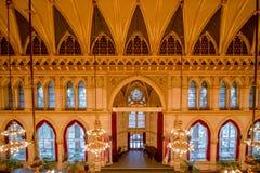 Balsal i det Wien stadshuset, Österrike Royaltyfri Bild