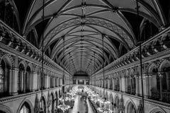 Balsal i det Wien stadshuset, Österrike Arkivfoto