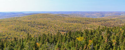 Balsam Lake Mountain Looking West Royalty Free Stock Image