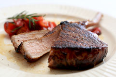 Balsamic and Honey Glazed Pork Chop. Royalty Free Stock Photos
