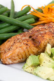 Balsamic and maple salmon Stock Photography