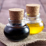 Balsamic and oil Royalty Free Stock Photos