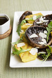 Balsamic Portobellos and Grilled Polenta Royalty Free Stock Image