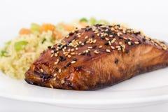 Balsamic salmon Stock Image