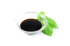Balsamic vinegar and basil Royalty Free Stock Images