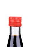 Balsamic vinegar bottle closeup. Royalty Free Stock Image