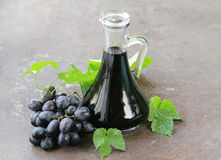 Balsamic vinegar in a glass jug Royalty Free Stock Images