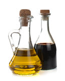 Balsamic vinegar and olive oil Royalty Free Stock Images