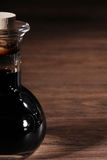 Balsamico. In carafe on table stock photo