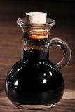 Balsamico. In a glass carafe royalty free stock photos