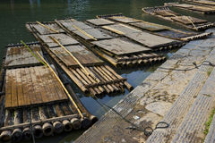 Balsas de bambú Fotografía de archivo libre de regalías