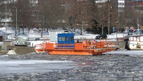Balsee el ` de Fiori del ` en el día soleado de febrero Turku, Finlandia metrajes