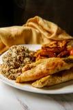 Balsemieke Kip Gemengde Quinoa royalty-vrije stock afbeeldingen