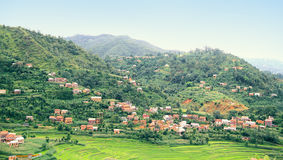 Balthali Village wide view Royalty Free Stock Images