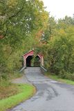 Balthazar Covered Bridge stockbild