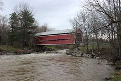 Balthazar Covered Bridge. Batlhazar Covered Bridge in Brigham, Quebec Royalty Free Stock Image