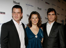 Balthazar Getty, Jennifer Howell and Joaquin Phoenix. November 30, 2005 - West Hollywood - Balthazar Getty, Jennifer Howell and Joaquin Phoenix at The Art of Royalty Free Stock Image
