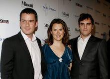 Balthazar Getty, Jennifer Howell und Joaquin Phoenix lizenzfreies stockbild