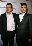 Balthazar Getty and Joaquin Phoenix. November 30, 2005 - West Hollywood - Balthazar Getty and Joaquin Phoenix at The Art of Elysium Presents Russel Young `fame Royalty Free Stock Image