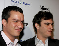 Balthazar Getty and Joaquin Phoenix. November 30, 2005 - West Hollywood - Balthazar Getty and Joaquin Phoenix at The Art of Elysium Presents Russel Young `fame Royalty Free Stock Photo