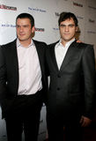 Balthazar Getty and Joaquin Phoenix. WEST HOLLYWOOD, CALIFORNIA. November 30, 2005. Balthazar Getty and Joaquin Phoenix attend the Art of Elysium Presents Russel Royalty Free Stock Image
