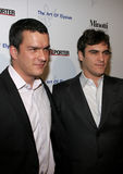 Balthazar Getty und Joaquin Phoenix lizenzfreies stockfoto