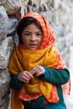 Balti女孩, Ladakh 免版税库存照片