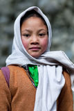 Balti孩子在拉达克,印度 免版税库存照片