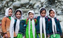 Balti孩子在拉达克,印度 库存照片