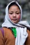 Balti孩子在拉达克,印度 免版税库存图片