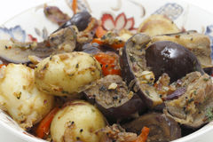 Balti eggplant and potato curry