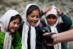 Balti Schoolgirls in Ladakh, India Stock Photo